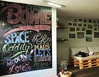 David Bowie Chalkboard Lettering