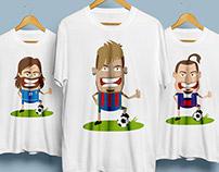 Football players t-shirts