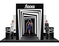 Mercedes Benz Fashion Week'2019. Laska stand concept.