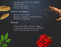 Illustrations for menu design