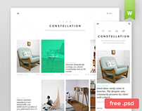 Constellation - Tumblr Free PSD Template