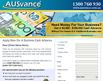 AUSvance Landing Page