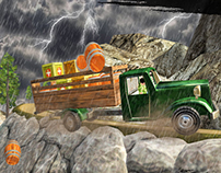 Army Cargo Truck Game Graphics Design