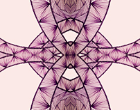 Purple ray pattern