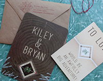 Kiley Kemp & Bryan Bedson Wedding Invites