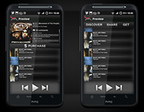 Music With Me Android App UI
