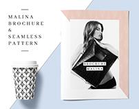 MALINA Brochure Template + 20 Pattern