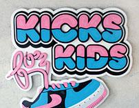 Kicks for kids sign