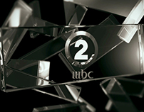 Mbc2 logo in glass