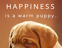 GRAPHICS DESIGN_ HAPPINESS IS A WARM PUPPY