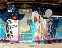 """Wall painting for the """"Living"""" Bar"""