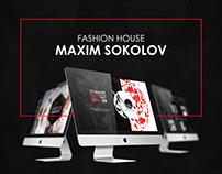 "Website for Russian fashion house ""Maxim Sokolov"""