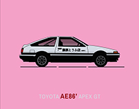 Car illustration - TOYOTA A86