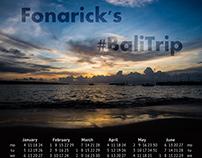 Bali Landscapes calendar for 2016