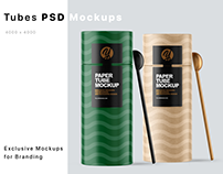 Paper Tube with Spoon Mockups