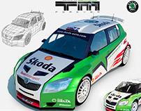 Skoda Fabia S2000 WRC 3D model