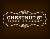 Chestnut St. Pixel Foundry | identity