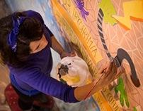 """Wall painting for """"Mirá mamá"""""""