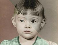 Reconstituição de foto preto e branca