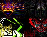 Mask Show - VJ Loop Pack (6in1)