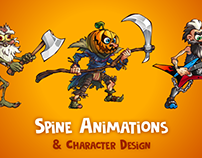 Spine Animations & Character Design