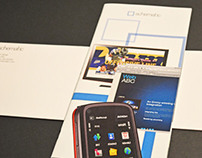 Schematic interactive web company brochure and envelope