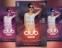 Club Beat - Free PSD Flyer Template