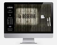 Site internet / Website : La Réserve table et vins