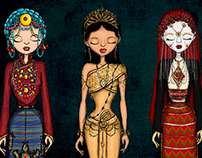Brides from around the world, Illustrated.