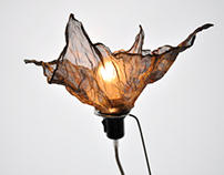 """Light sculpture """"Titanium flowers"""""""