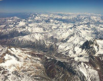 The Andes, flying over the top of the top of the world.