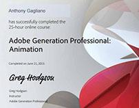 Adobe Generation Professional Animation Certificate