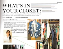 What's In Your Closet? Editorial Layout