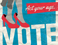 "AIGA ""Get Out The Vote"" Posters"