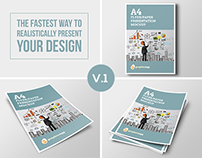 A4 Flyer Mockup Set Vol.1
