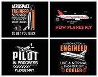 Aeronautical Engineer T-Shirt Design.
