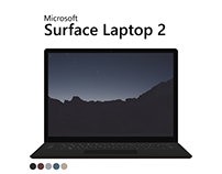 Microsoft Surface Laptop 2 - Flat Mockup PSD