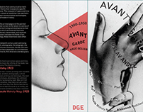 Avantgarde Page Design Book Cover with Type+image