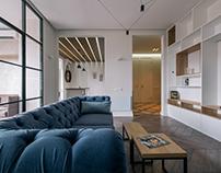 Anthracite Line Apartment