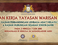 Banner for Yayasan Warisan Johor trip to Jambi
