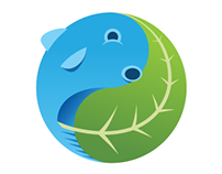 Green And Blue Aquaponics Logo (2012)