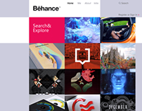 Behance Modern Web Re-Design