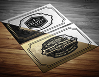 Retrovers Elegant Business Card