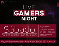 LIVE GAMERS NIGHT - Flyer