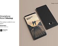 Smartphone Note 8 Mockup
