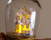 Miniature House Made of Love Letters
