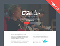 Eventide - PSD Landing Page (Free Template)