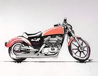 Harley-Davidson Ink drawing