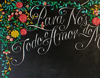 Mural de giz | Dia dos Namorados