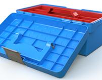 Small plastic toolbox
